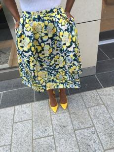 H&M Floral Print Skirt-$20
